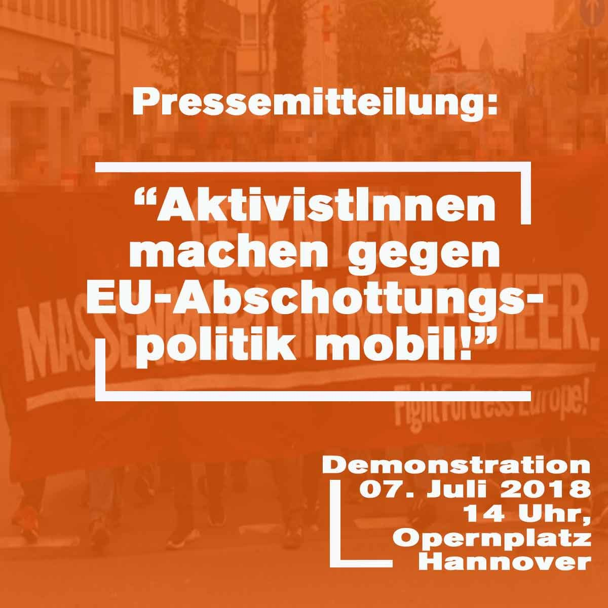 Presse: AktivistInnen machen gegen EU-Abschottungspolitik mobil