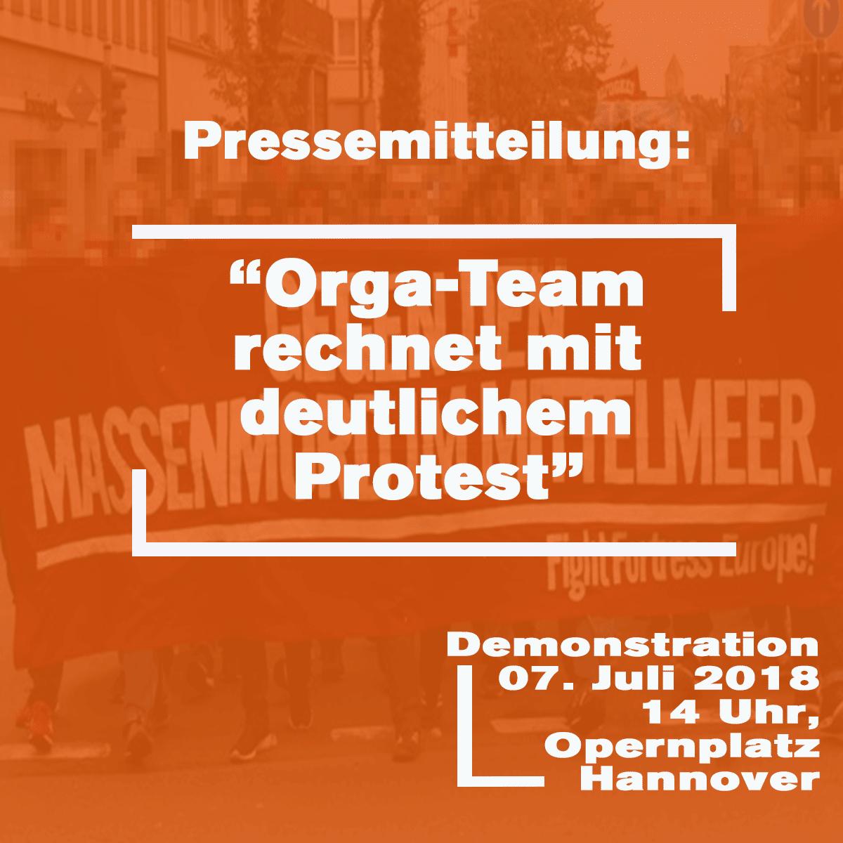 Presse: Demo gegen Abschottungspolitik – OrganisatorInnen rechnen mit vielen Teilnehmenden in Hannover