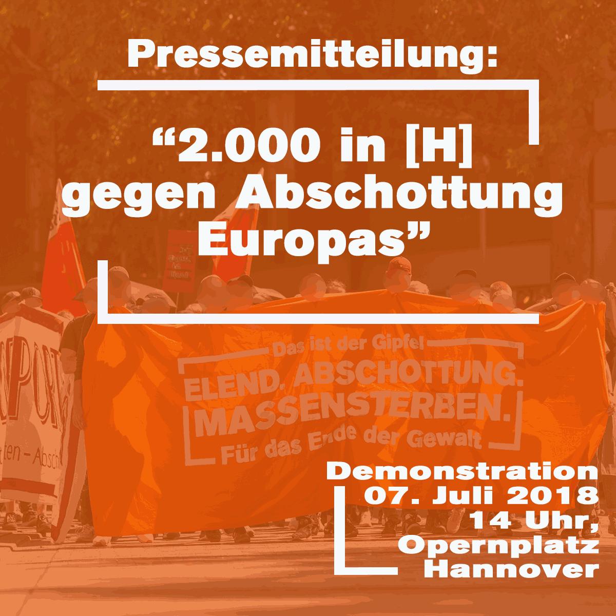 2.000 demonstrieren in Hannover gegen Abschottung der EU