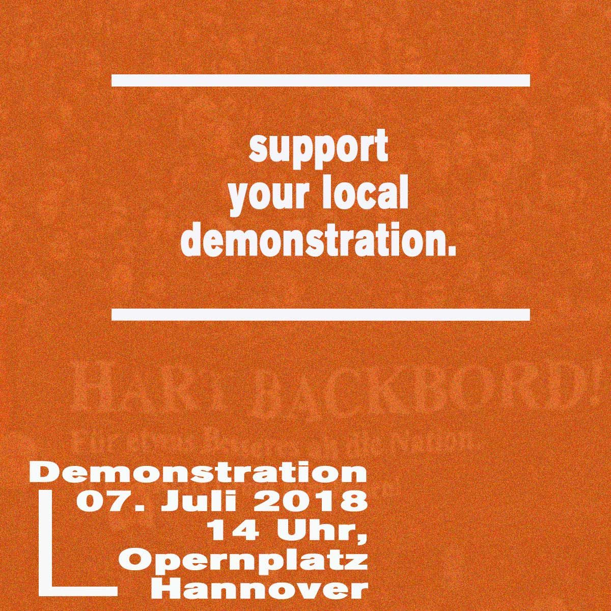 support your local demonstration!
